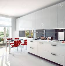 modern kitchen interior concept illustration stock photo picture