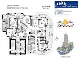 penthouse floor plans las olas grand condos for sale downtown fort lauderdale