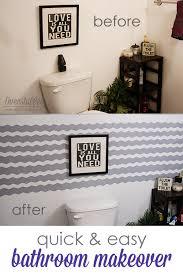 Easy Bathroom Makeover Quick U0026 Easy Bathroom Makeover Overstuffed