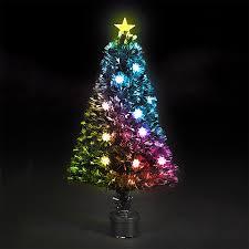 christmas tree flower lights starburst fibre optic christmas tree with flowers
