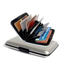 alumni wallet aluma smart silver card wallet buy online at low price