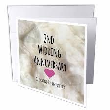 2nd wedding anniversary gifts 3drose 2nd wedding anniversary gift cotton celebrating 2 years