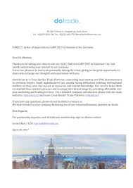 Business Partnership Thank You Letter by Dotrade Global Trade Platform