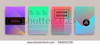 Futuristic Design Minimalistic Covers Set Geometric Futuristic Design Stock Vector