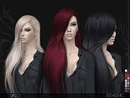 sims 4 custom content hair stealthic valo female hair