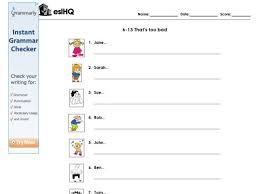 esl practice using present progressive tense 4th 7th grade