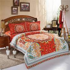 beautiful bohemia boho bedding sets queen size print bedspread  with beautiful bohemia boho bedding sets queen size print bedspread pcs bed  linen sheets duvet cover set high qualityin bedding sets from home   garden on  from aliexpresscom