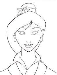 drawn princess mulan pencil and in color drawn princess mulan