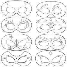 Halloween Paper Masks Printable by Superhero Printable Coloring Masks Superhero Mask Hero Mask