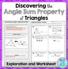 Sum Of The Interior Angles Of A Polygon Worksheet Best 25 Triangle Angles Ideas On Pinterest Triangle Math