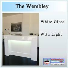 Black Reception Desk Wembley Reception Desk Black Or White Gloss