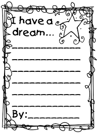 Incredible Have Dream Template For Kids With Mlk Coloring Pages Mlk Coloring Pages