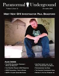 december 2009 paranormal underground by paranormal underground