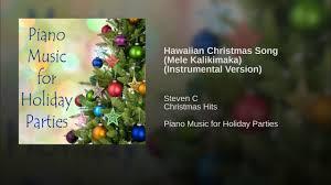 hawaiian christmas song mele kalikimaka instrumental version