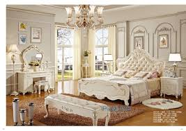 cheap bedroom suites online european royal white solid wood hand carved antique style bedroom