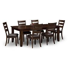 Dining Room Table 6 Chairs by Abaco Table And 6 Chairs Brown American Signature Furniture
