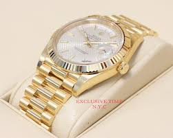 golden rolex rolex day date yellow gold 40mm 228238 new model unworn for