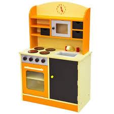 kit cuisine enfants enfant cuisine enfant bois 60 cm x 30 cm x 91 cm jeux de rôle orange