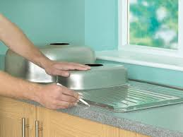 Countertop Kitchen Sink How To Install A Kitchen Sink In A Laminate Or Wood Countertop