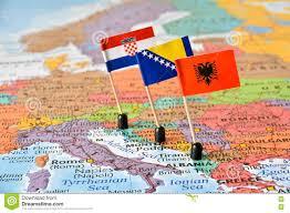 Map Of Balkans Balkans Map And Flags Of Albania Bosnia And Herzegovina Croatia