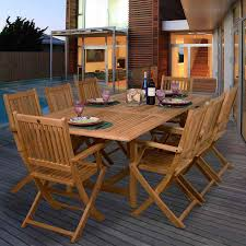 dining tables outdoor teak dining table set titan tenafly