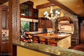 Rustic Bathroom Sconces Kitchen Rustic Kitchen Blue Cathedral Ceiling One Wall Kitchen