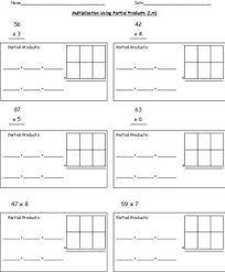 common core worksheets lattice multiplication common core