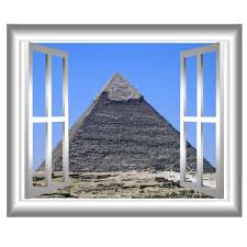 pyramid at giza 3d window decals egypt wall art window frame zoom