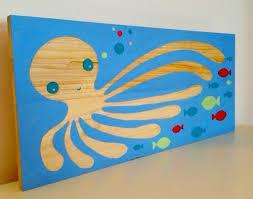 Ocean Themed Kids Room by Octopus Ocean Theme Nautical Nursery Wall Art Kids Room Art