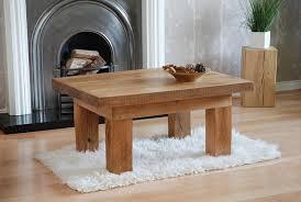 wood plank coffee table oak sleeper furniture plank coffee table