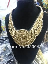 beaded collar necklace jewelry images Wholesale new fashion wood crystal gemstone beads handmade craft jpg