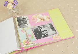 handmade scrapbook albums fashion diy 8 photo album w 3d stickers decorative handmade
