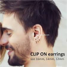 earrings men clip on earring for men clip on hoop earring nose ring