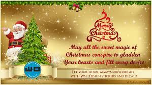 easy wall decors and merry christmas walldesign