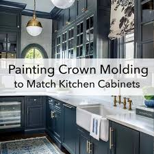 how to do crown molding on kitchen cabinets painting crown molding to match cabinets an exle in