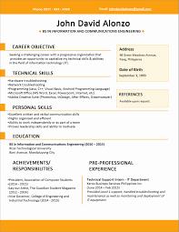 resume sles for fresh graduates bcom it resume format for experienced lovely sle resume format for