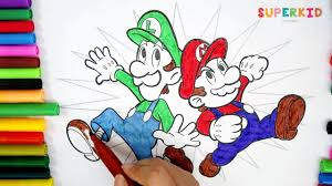 mario and luigi coloring pages super mario and luigi for kids