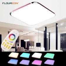 30w 1600lm rgb led flush mount ceiling light color change 2 4g