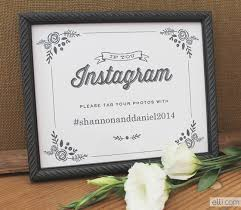 wedding instagram wedding instagram sign printable the elli