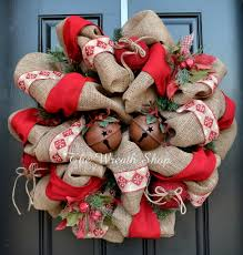 rustic burlap christmas wreath wreath christmas christmaswreath