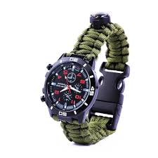 survival bracelet watches images Multifunctional 5 in 1 survival paracord watch outdoor guerrilla jpg