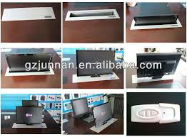 computer desk monitor lift screen protect pop up monitor lcd motorized lift for conference