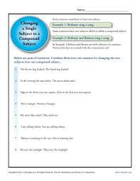 brilliant ideas of compound subject and predicate worksheets 3rd