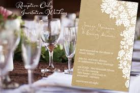 wedding programs exle reception only invitation wordingtruly engaging wedding
