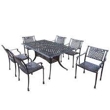 6 Chair Patio Dining Set Cast Aluminum Patio Dining Furniture Patio Furniture The