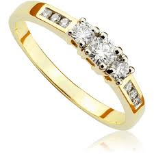 pierscionek zareczynowy pierścionek zaręczynowy z brylantami z żółtego złota p0489zb