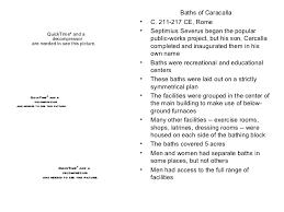 Baths Of Caracalla Floor Plan Ap Art History Test 4