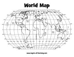 Blank World Map Worksheet by Free Grid Maps Diagrams Free Printable Images World Maps