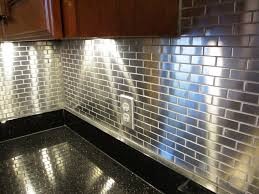 plain kitchen backsplash metal glass gray countertop intended
