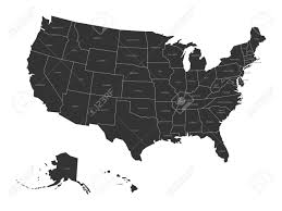 Map Of United States With Names by Map Of United States Of America With State Names Simplified